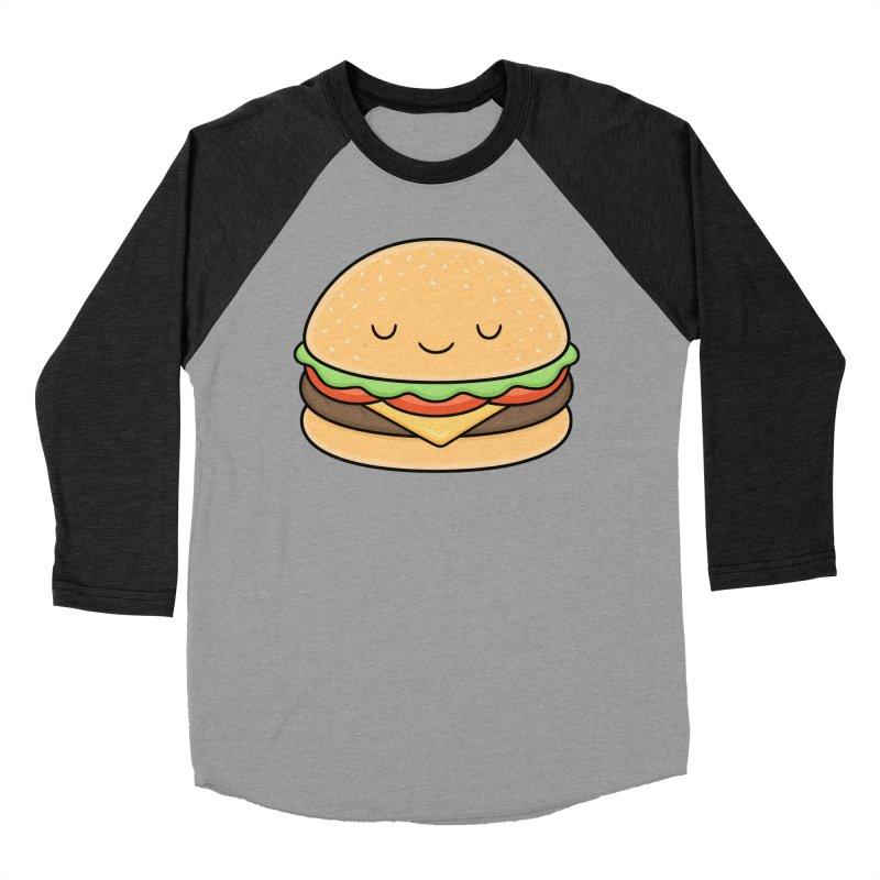 Happy Burger Women's Baseball Triblend T-Shirt by Kim Vervuurt