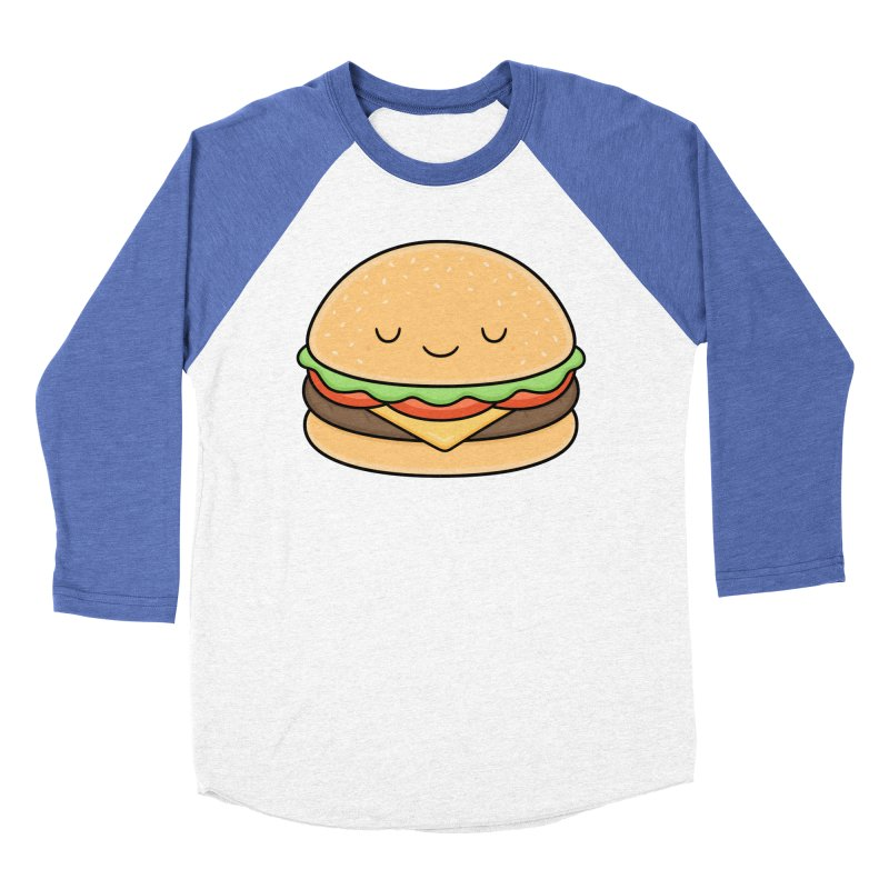 Happy Burger Men's Baseball Triblend T-Shirt by Kim Vervuurt