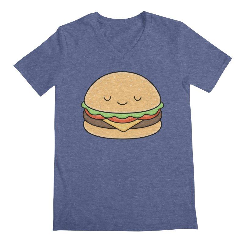 Happy Burger Men's Regular V-Neck by Kim Vervuurt
