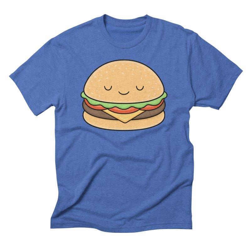 Happy Burger Men's Triblend T-shirt by Kim Vervuurt