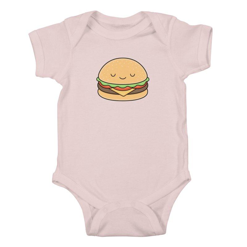 Happy Burger Kids Baby Bodysuit by Kim Vervuurt