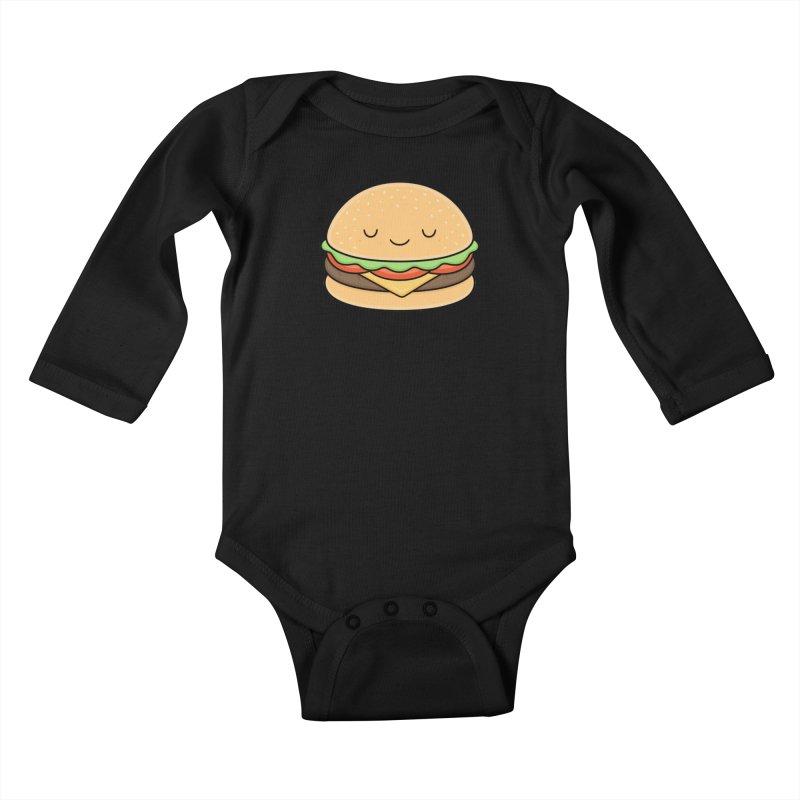 Happy Burger Kids Baby Longsleeve Bodysuit by Kim Vervuurt