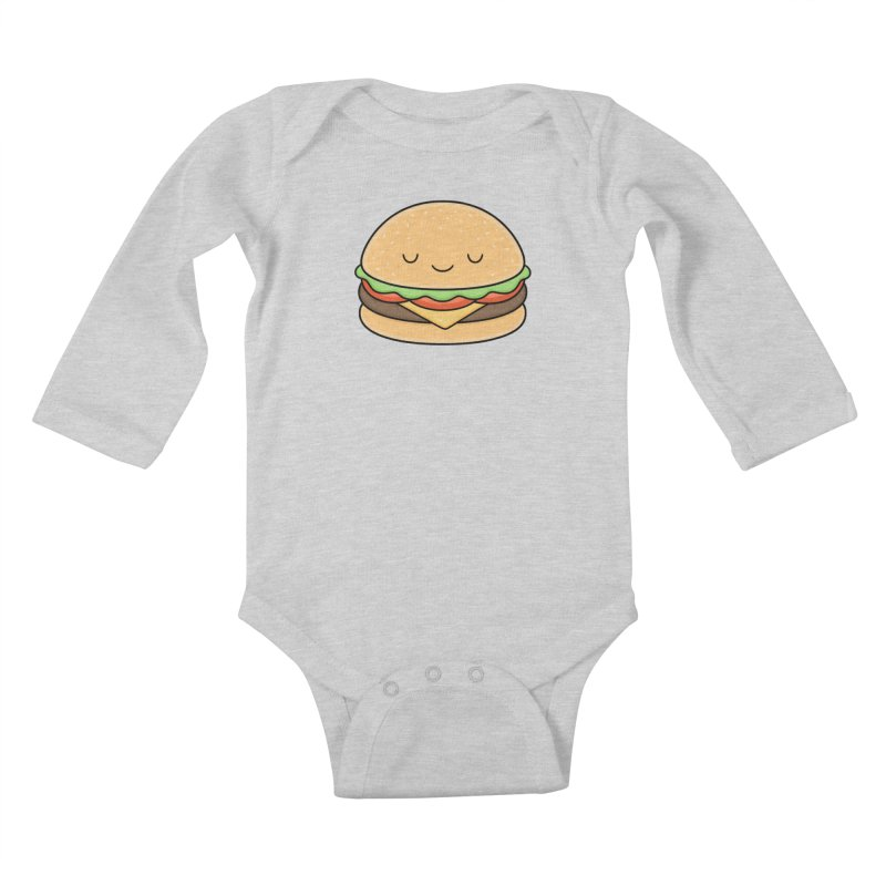 Happy Burger Kids Baby Longsleeve Bodysuit by Kim Vervuurt