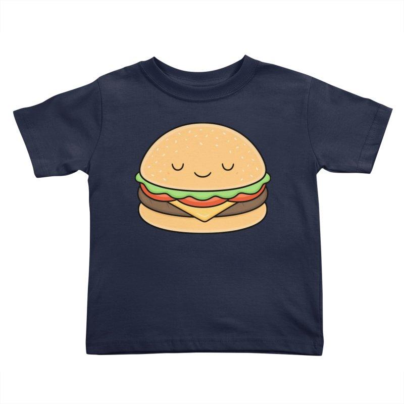 Happy Burger Kids Toddler T-Shirt by Kim Vervuurt