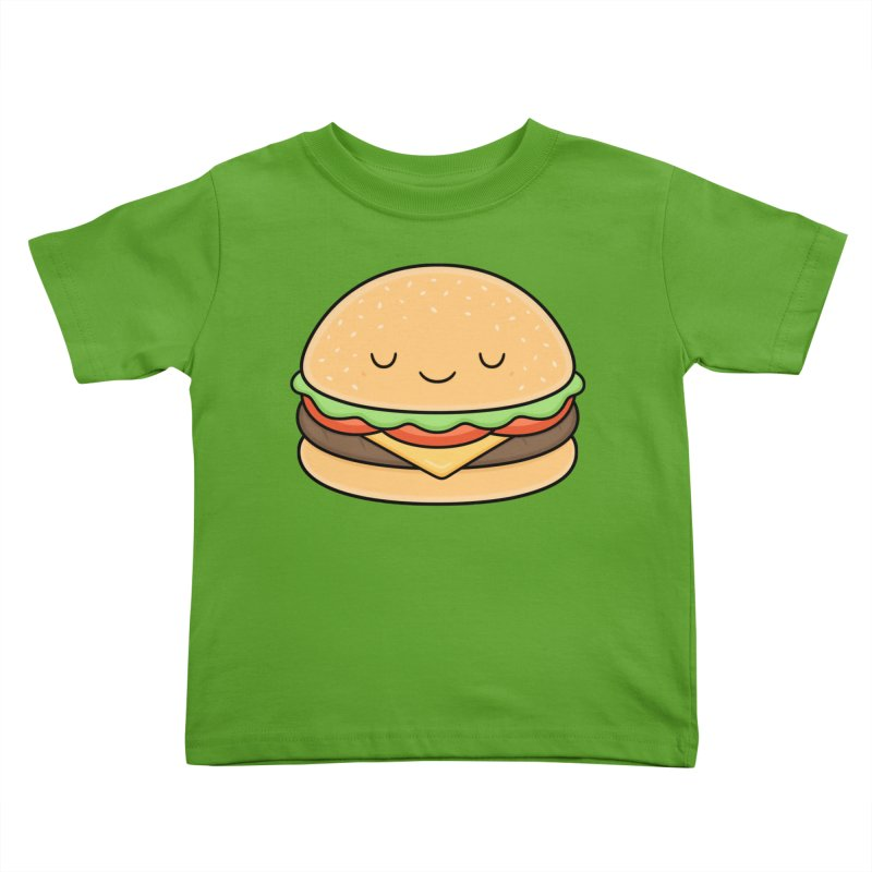 Happy Burger Kids Toddler T-Shirt by Kim Vervuurt