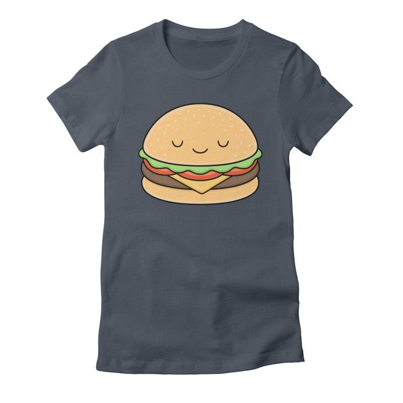 Happy Burger Women's T-Shirt by Kim Vervuurt