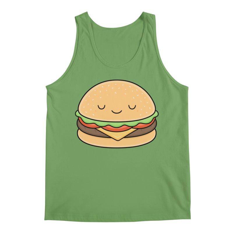 Happy Burger Men's Tank by Kim Vervuurt