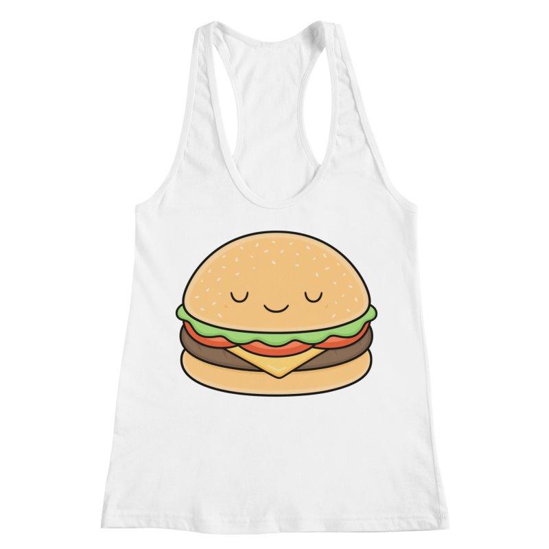 Happy Burger Women's Racerback Tank by Kim Vervuurt