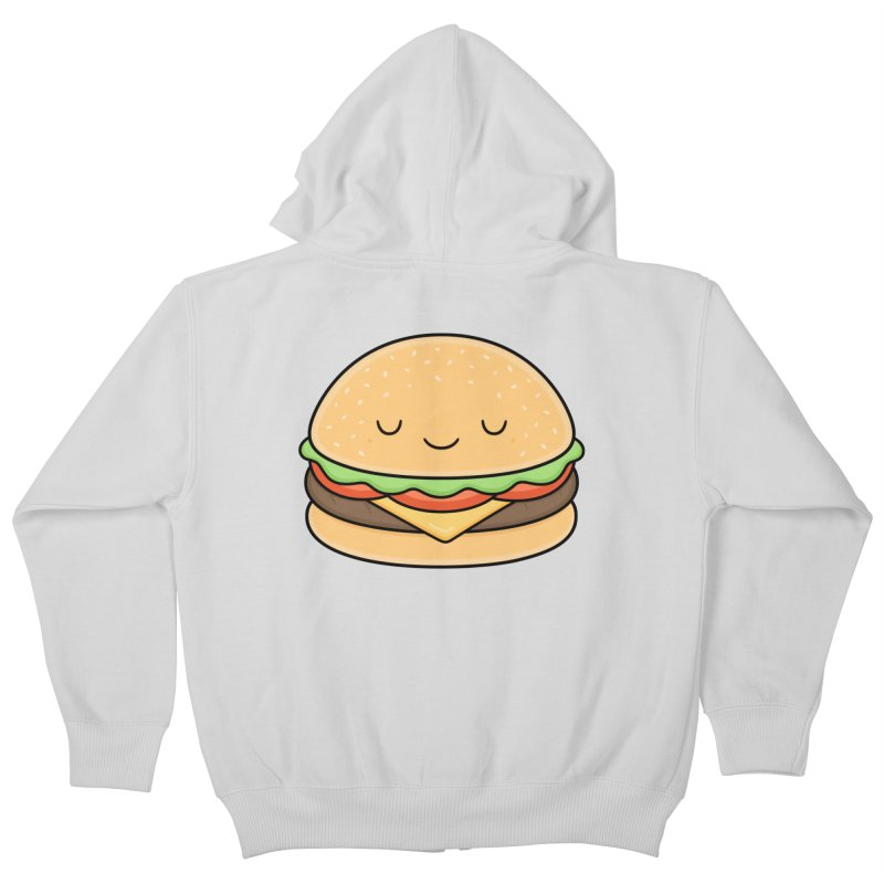 Happy Burger Kids Zip-Up Hoody by Kim Vervuurt