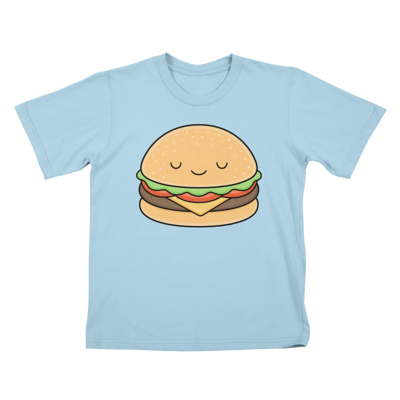 Happy Burger Kids T-Shirt by Kim Vervuurt