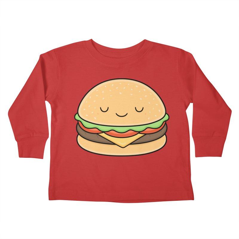 Happy Burger Kids Toddler Longsleeve T-Shirt by Kim Vervuurt