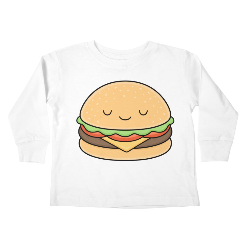 Happy Burger Kids Toddler Longsleeve T-Shirt by Kim Vervuurt