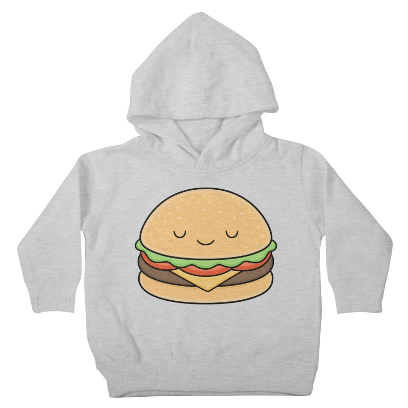 Happy Burger Kids Toddler Pullover Hoody by Kim Vervuurt