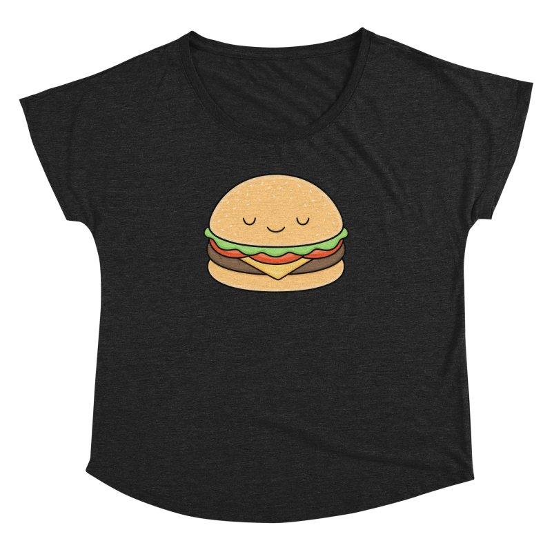Happy Burger Women's Dolman Scoop Neck by Kim Vervuurt