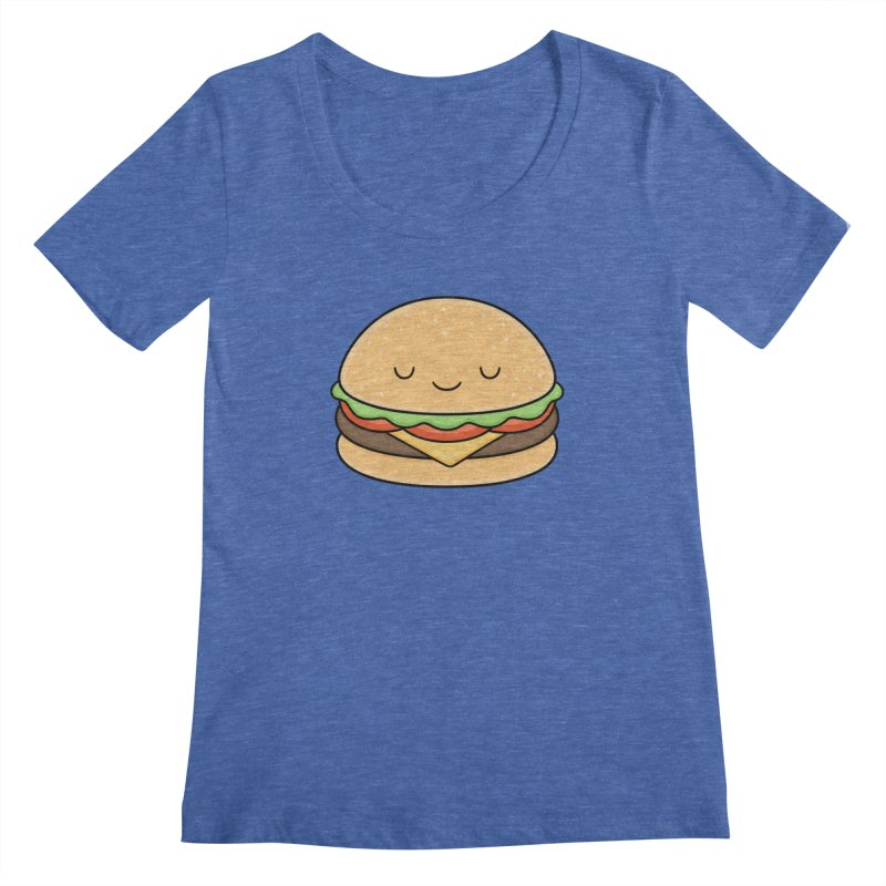 Happy Burger Women's Regular Scoop Neck by Kim Vervuurt