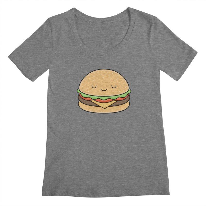 Happy Burger Women's Scoopneck by Kim Vervuurt