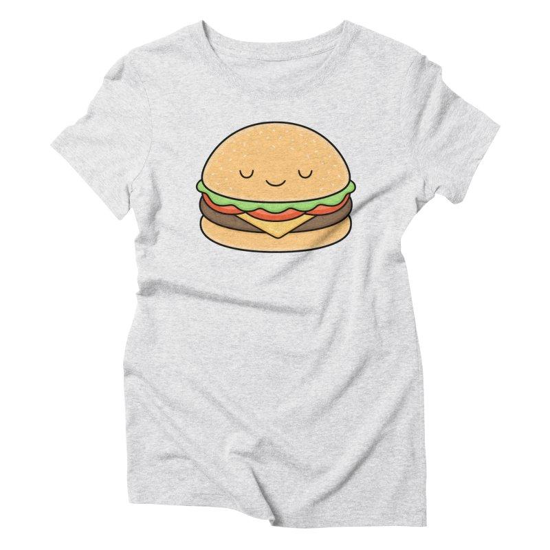 Happy Burger Women's Triblend T-Shirt by Kim Vervuurt