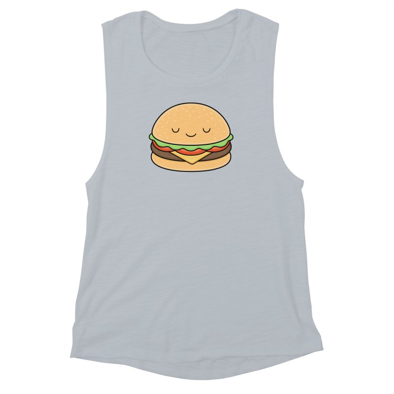 Happy Burger Women's Muscle Tank by Kim Vervuurt