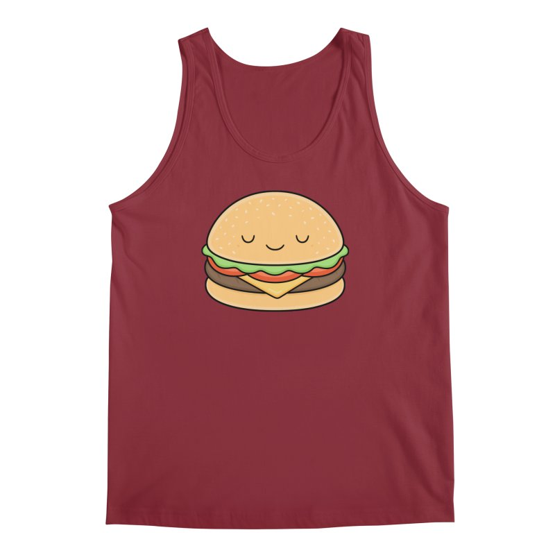 Happy Burger Men's Tank by Kim Vervuurt