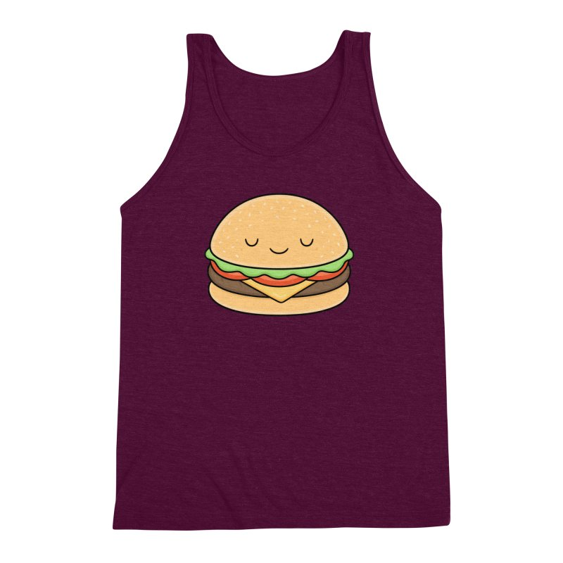 Happy Burger Men's Triblend Tank by Kim Vervuurt