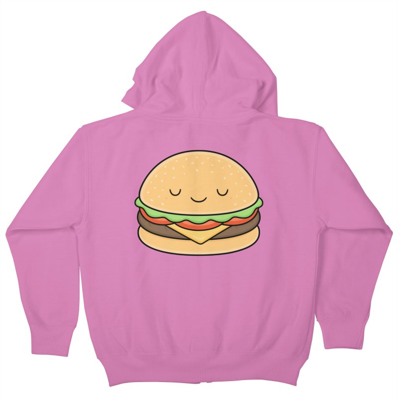 Happy Burger Kids Zip-Up Hoody by Kim Vervuurt