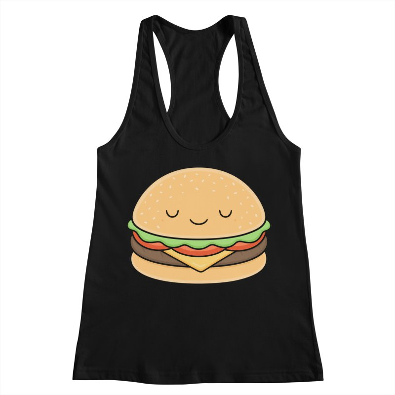 Happy Burger Women's Racerback Tank by Kim Vervuurt