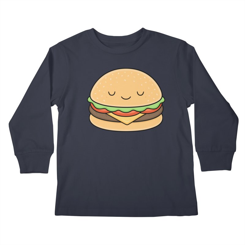 Happy Burger Kids Longsleeve T-Shirt by Kim Vervuurt