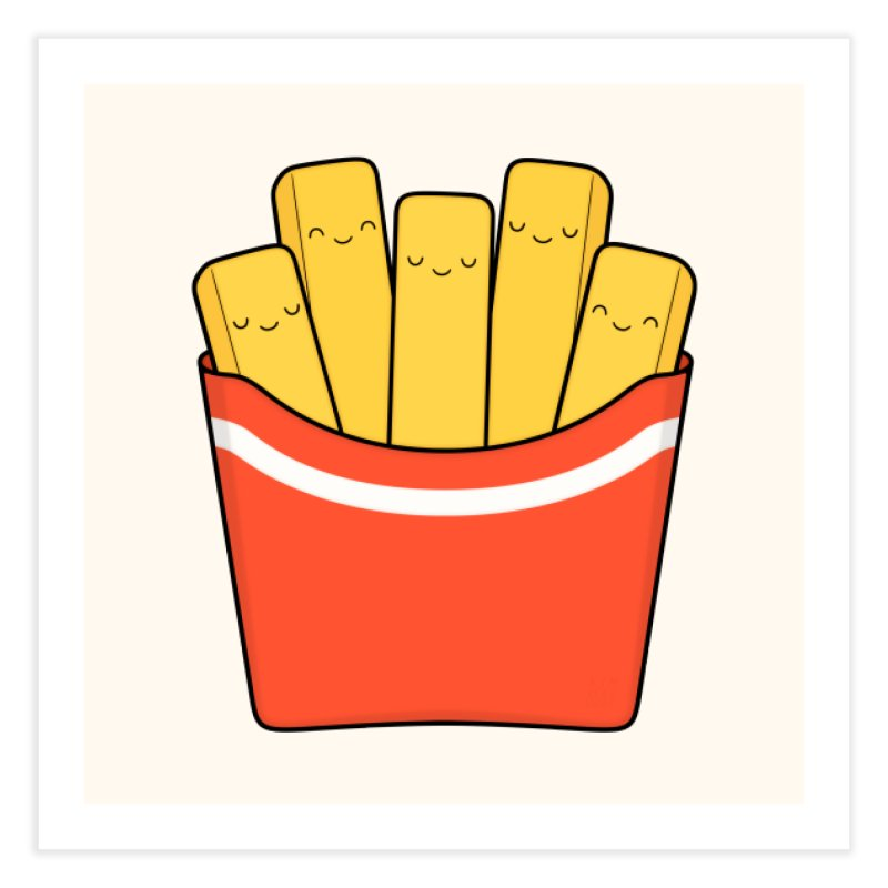 Best Fries Home Fine Art Print by Kim Vervuurt