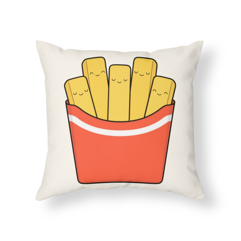 Best Fries Home Throw Pillow by Kim Vervuurt