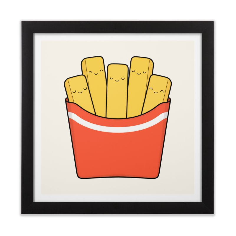 Best Fries Home Framed Fine Art Print by Kim Vervuurt