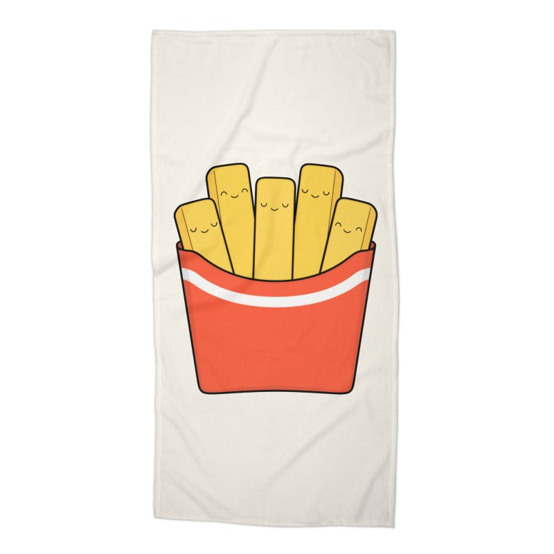 Best Fries Accessories Beach Towel by Kim Vervuurt