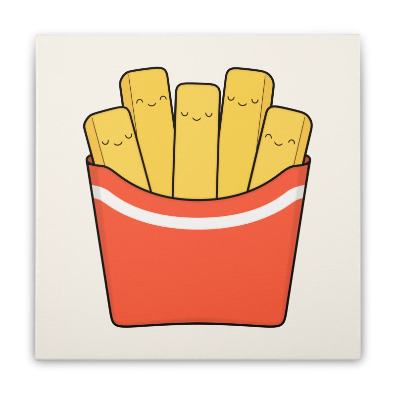 Best Fries Home Stretched Canvas by Kim Vervuurt