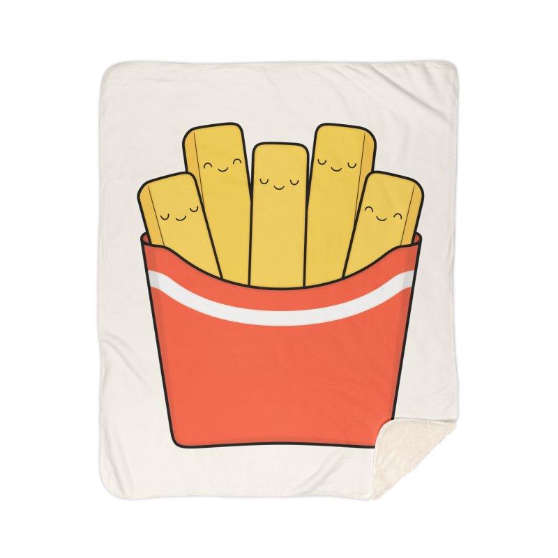 Best Fries Home Sherpa Blanket Blanket by Kim Vervuurt