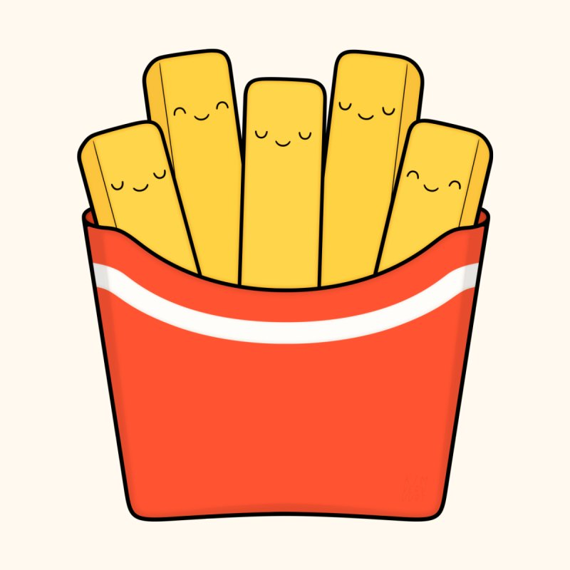 Best Fries Accessories Bag by Kim Vervuurt