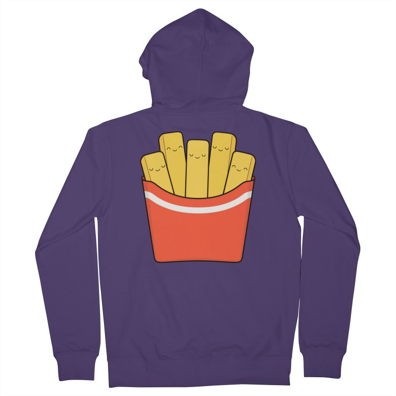 Best Fries Women's French Terry Zip-Up Hoody by Kim Vervuurt
