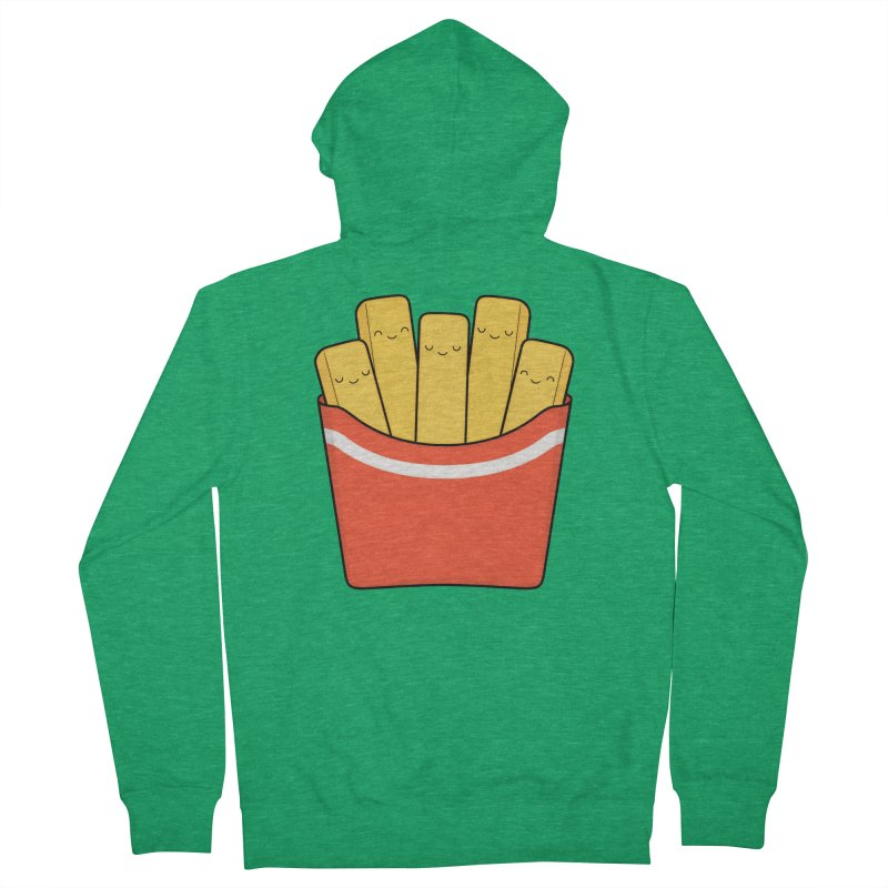 Best Fries Men's French Terry Zip-Up Hoody by Kim Vervuurt