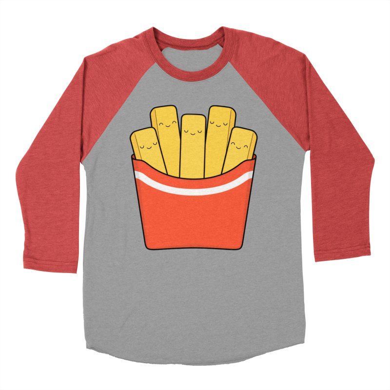 Best Fries Women's Baseball Triblend T-Shirt by Kim Vervuurt