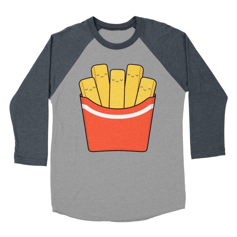Best Fries Men's Baseball Triblend Longsleeve T-Shirt by Kim Vervuurt