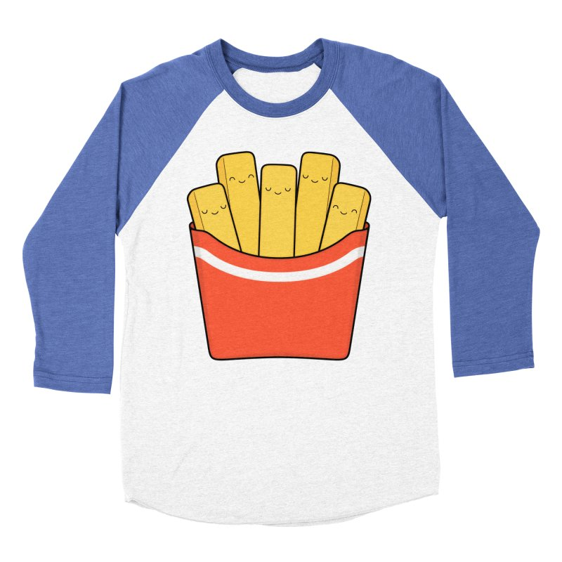 Best Fries Men's Baseball Triblend Longsleeve T-Shirt by Kim Vervuurt