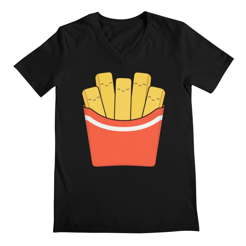 Best Fries Men's V-Neck by Kim Vervuurt