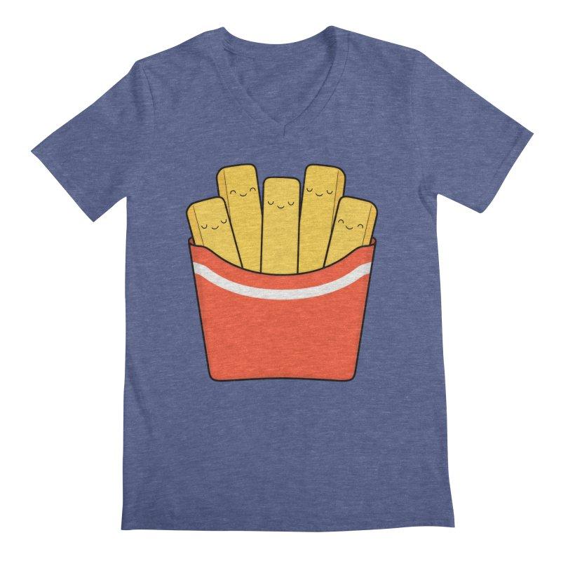 Best Fries Men's Regular V-Neck by Kim Vervuurt
