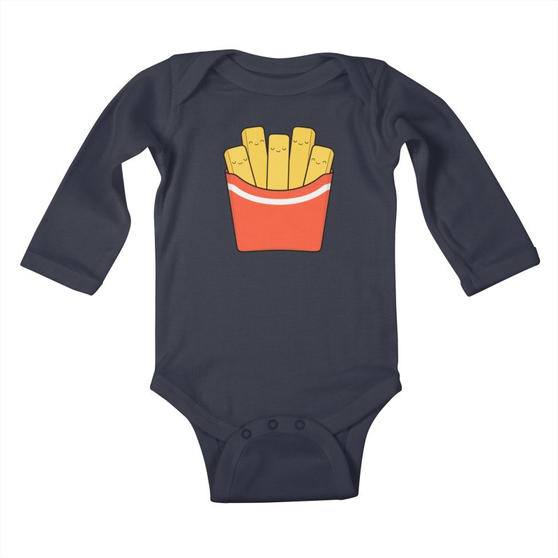 Best Fries Kids Baby Longsleeve Bodysuit by Kim Vervuurt