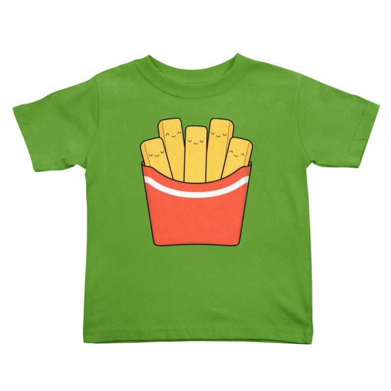Best Fries Kids Toddler T-Shirt by Kim Vervuurt