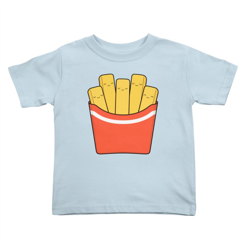 Best Fries Kids Toddler T-Shirt by Kim Vervuurt