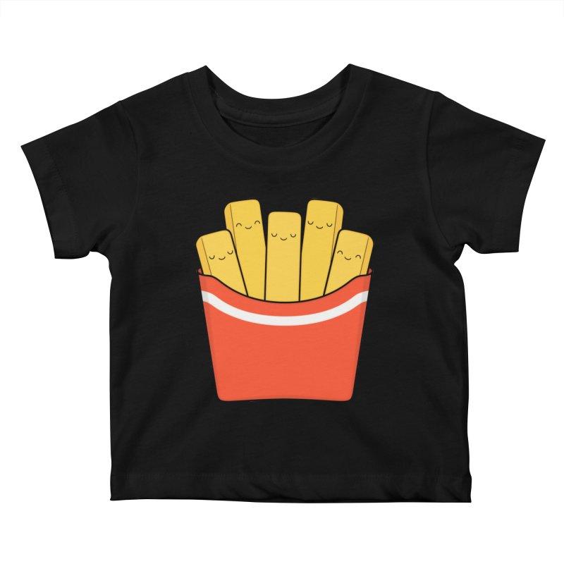 Best Fries Kids Baby T-Shirt by Kim Vervuurt