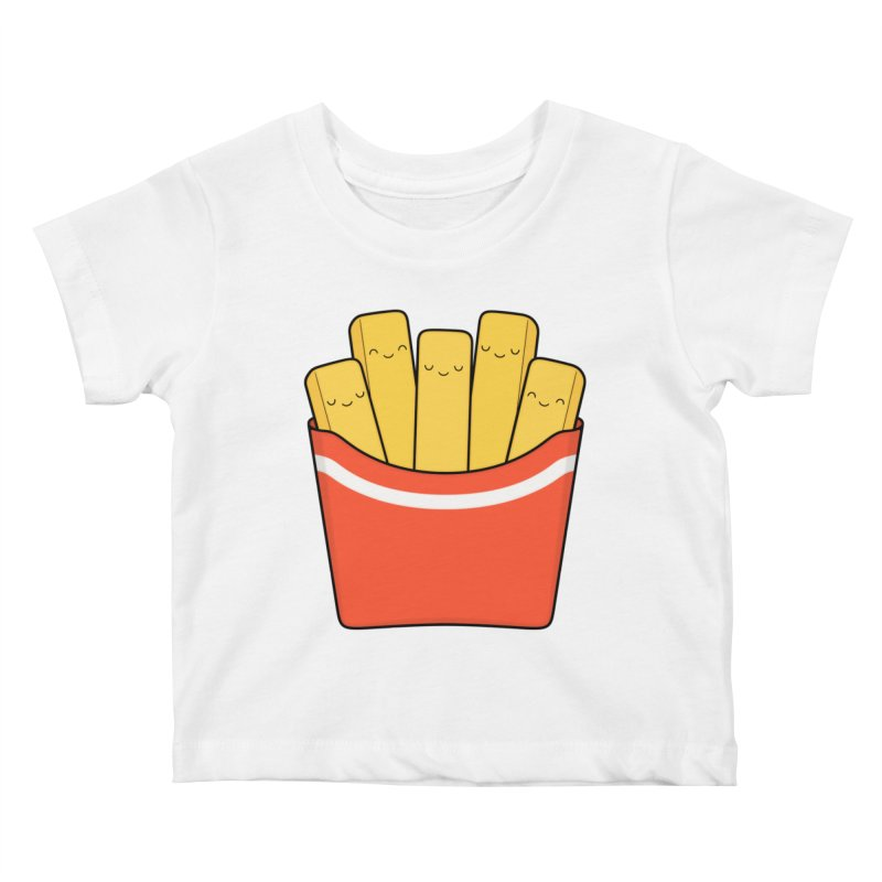Best Fries Kids Baby T-Shirt by Kim Vervuurt