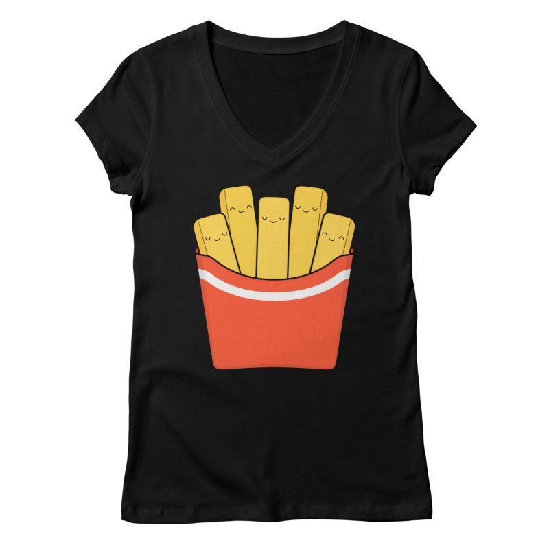 Best Fries Women's V-Neck by Kim Vervuurt