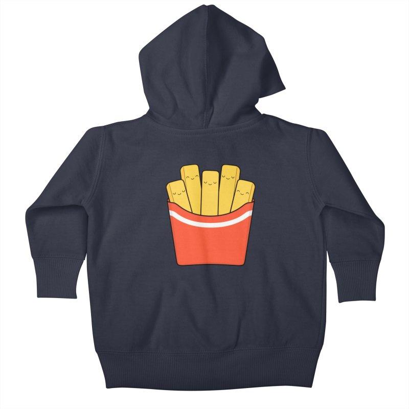 Best Fries Kids Baby Zip-Up Hoody by Kim Vervuurt