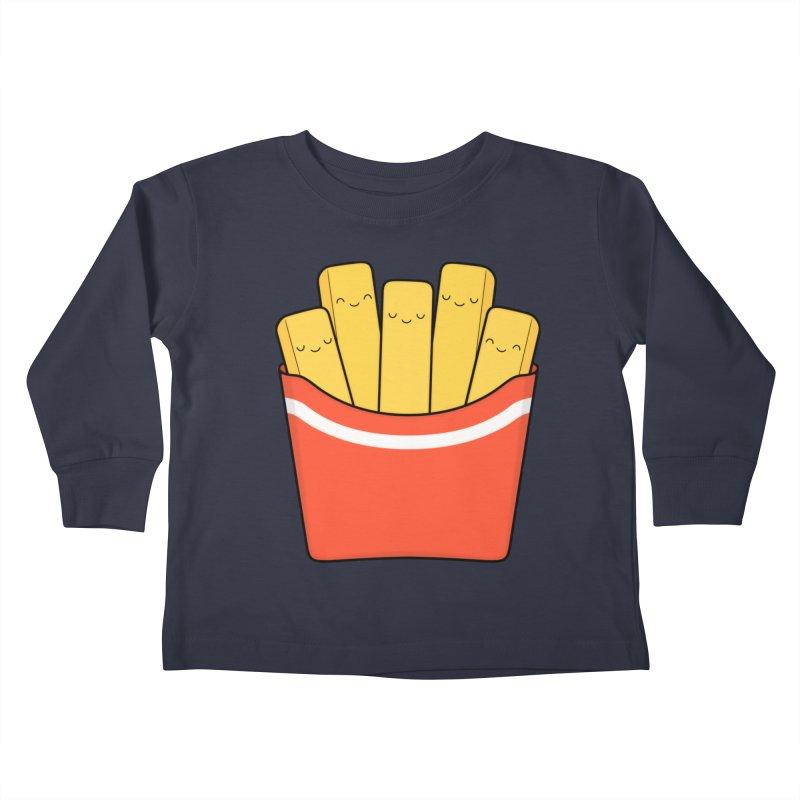 Best Fries Kids Toddler Longsleeve T-Shirt by Kim Vervuurt