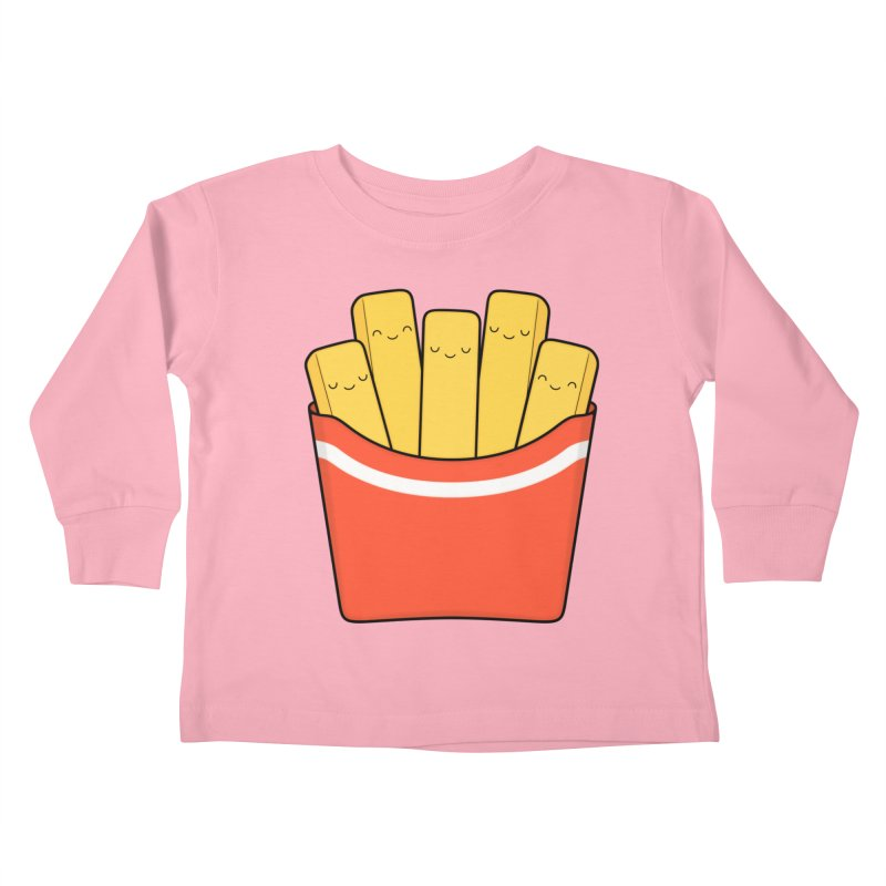 Best Fries Kids Toddler Longsleeve T-Shirt by Kim Vervuurt